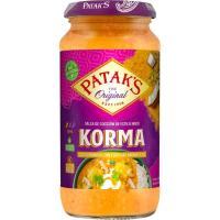 Salsa korma  PATAK'S, frasco 450 g