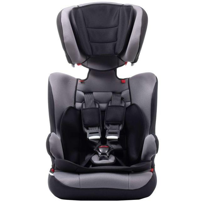 Silla auto Vik V2, grupo 123(de 9 a 36kg), color gris. Instalación cinturón. Cabezal regulable en altura, adaptable al crecimiento del niño. Con colchoneta reductora y apoyabrazos. Desenfundable y lavable, VIVITTA