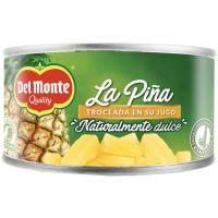 La piña en rodajas DEL MONTE, pack 3x145g