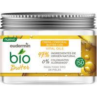 Crema corporal hidratante bio butter EUDERMIN, tarro 300 ml