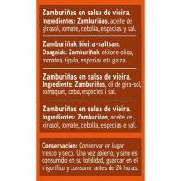 Zamburiña en salsa de vieira EROSKI, lata 115 g
