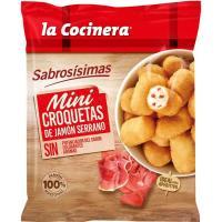 Mini croquetas de jamón LA COCINERA, bolsa 300 g