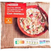 Arroz 3 delicias EROSKI, bolsa 500 g