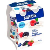 Yogur liquido de frutos del bosque NESTLÉ, pack 4x170 g