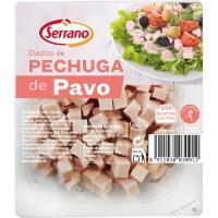 Dados de pechuga de pavo SERRANO, bandeja 200 g