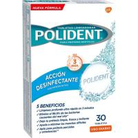 Tableta limpiadora de aparato dental POLIDENT, caja 30 uds