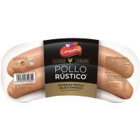 Salchicha de pollo rústico CAMPOFRÍO, sobre 260 g