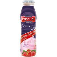 Yogur líquido de fresa CREAMY PASCUAL, botella 188 ml