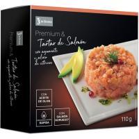 Tartar de salmón con aliño premium LA SIRENA, caja 110 g