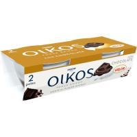 Griego con chocolate valor OIKOS, pack 2x100 g