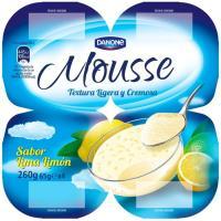 Mousse de lima limón DANONE, pack 4x65 g
