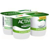 Bífidus cremoso natural ACTIVIA, pack 4x120 g