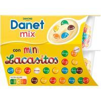 Natillas con lacasitos DANET, pack 2x122 g