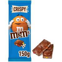 Chocolate con leche crispy M&M'S, tableta 150 g