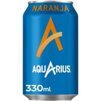 Bebida isotónica sabor naranja AQUARIUS, lata 33 cl