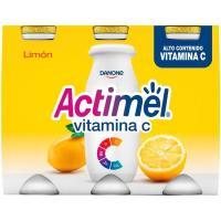 Bebida de limón ACTIMEL, pack 6x100 g
