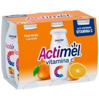 Bebida de naranja ACTIMEL, pack 6x100 g