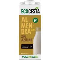 Bebida vegetal de almendra sin azúcar ECOCESTA, brik 1 litro