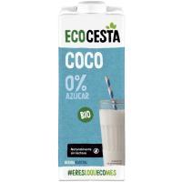 Bebida vegetal de coco sin azúcar ECOCESTA, brik 1 litro