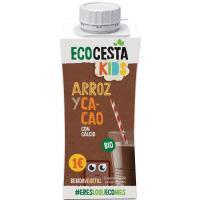 Bebida mini de arroz y cacao c/ calcio bio ECOCESTA, brik 250 ml