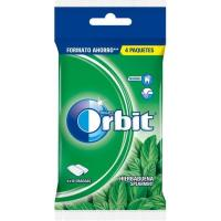 Chicle de hierbabuena en gragea ORBIT, pack 4x14 g
