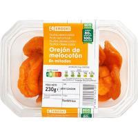 Orejones de melocotón EROSKI, tarrina 230 g
