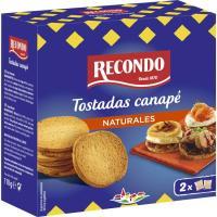 Tostadas canapé redondas RECONDO, caja 110 g