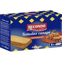 Tostadas canapé cuadradas RECONDO, caja 100 g
