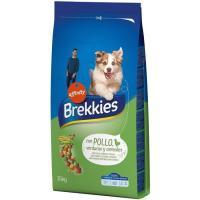 Alimento de pollo-cereal para perro BREKKIES, saco 15 kg