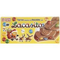 Turrón de chocolate con lacasitos LACASA, caja 200 g