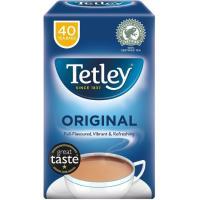 Té británico TETLEY, bolsas, caja 40 unid.