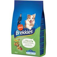 Alimento de pollo-cereales para perro BREKKIES, saco 4 kg