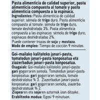 Espirales con vegetales EROSKI, paquete 500 g