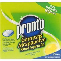 Recambio de mopa atrapapolvo limón PRONTO, caja 40 unid.