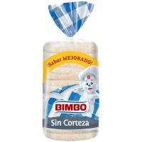 Pan de molde sin corteza BIMBO, paquete 450 g