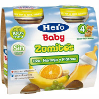 Zumo de uva-naranja-plátano HERO, pack 2x130 ml