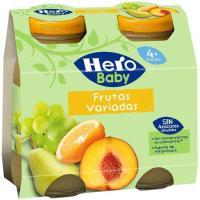Zumo de frutas desde 4º mes HERO, pack 2x130 ml