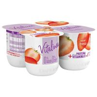 Yogur desnatado de fresa DANONE Vitalínea, pack 4x120 g