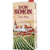 Vino Tinto de mesa DON SIMON, brik 1 litro