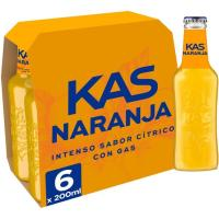 Refresco de naranja KAS, pack 6x20 cl