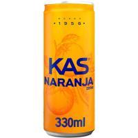 Refresco de naranja KAS, lata 33 cl
