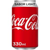 Refresco de cola light COCA COLA, lata 33 cl