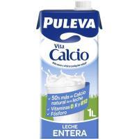 Leche entera calcio PULEVA, brik 1 litro