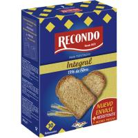 Pan tostado integral RECONDO, 30 rebanadas, paquete 270 g