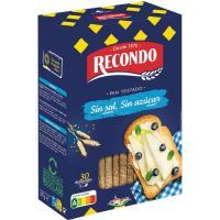 Pan tostado sin sal-azúcar RECONDO, 30 rebanadas, paquete 270 g