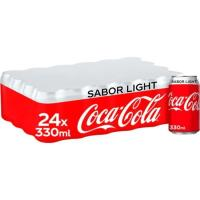 Refresco de cola light COCA COLA, pack 24x33 cl