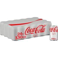 Refresco de cola light COCA COLA, pack 24x33 cl