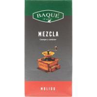 Café molido mezcla 50/50 BAQUÉ, paquete 250 g