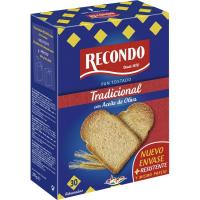 Pan tostado normal RECONDO, 30 rebanadas, paquete 270 g