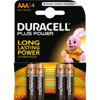 Pila alcalina Plus Power LR06 (AA) DURACELL, pack 4 uds